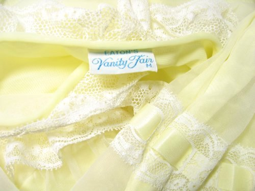 Eatons Vanity Fair Tag Label on Yellow Chiffon