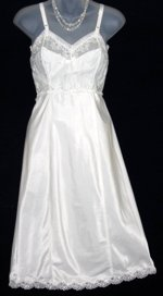 White Taffeta Chiffon Slip by Gay-Lure