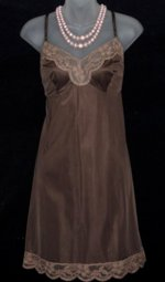 Vanity Fair Chocolate Nylon Full Slip
