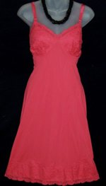 Vanity Fair Red Lace Slip