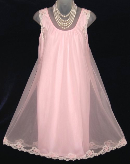French Maid Pink Babydoll Nightgown