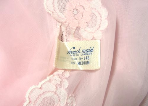 French Maid Lingerie Company Tag Label