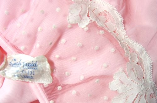Pink Nightgown French Maid Tag Label