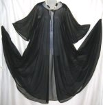Cahill Sheer Chiffon Black Peignoir