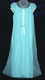 Lov'Lee Baby Blue Chiffon Nightgown