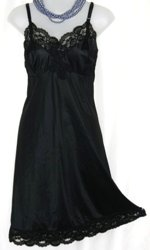 Gay-Lure Black Lace Full Slip