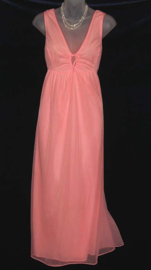 Vintage Chiffon Nylon Peach Lov'Lee Nightgown