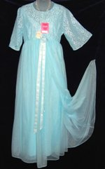 Vintage Vanity Fair Blue Peignoir