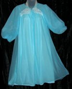 Gay-Lure Blue Chiffon Babydoll Peingoir