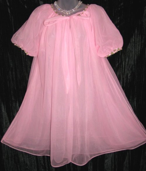 Vanity Fair Pink Peignoir Robe