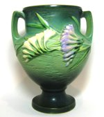 Roseville Freesia Green Trophy Vase